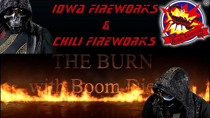 CHILI FIREWORKS and IOWA FIREWORKS FARM on livestream - The Burn
