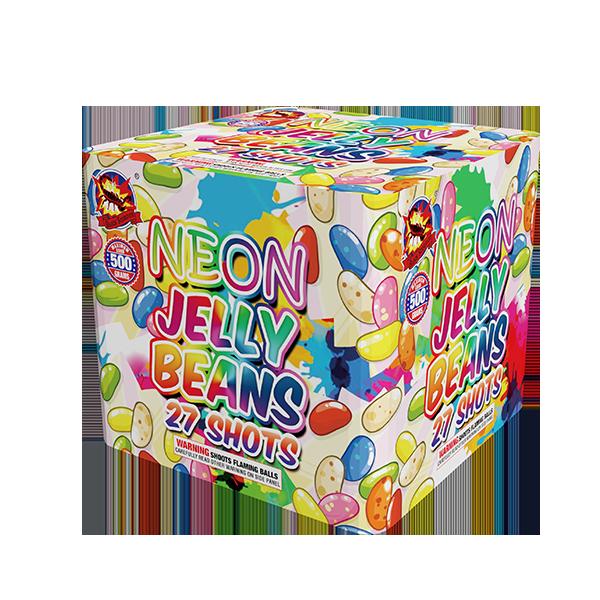 Fagioli di gelatina al neon